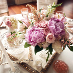 Vintage-Purple-and-Pink-Centerpieces